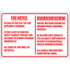 FR18 - Fire Notice Safety Sign
