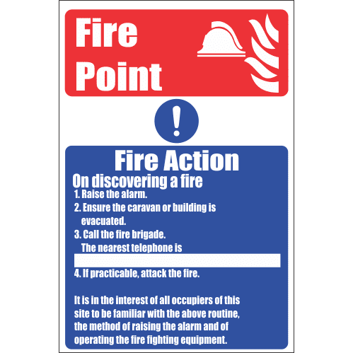 FR28 - Fire Point Safety Sign
