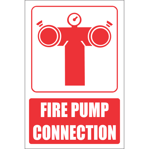 FB8E - Fire Pump Connection Explanatory Safety Sign