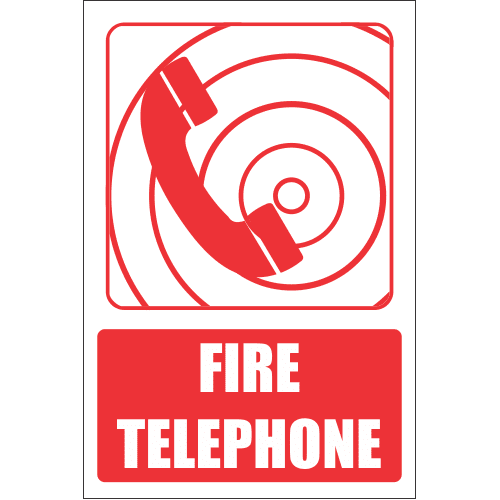 FB7E - Fire Telephone Explanatory Safety Sign