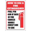 FR43 - How To Use a Fire Extinguisher Safety Sign