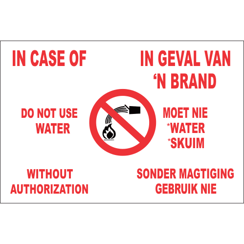 FR17 - In Case Of Fire Safety Sign