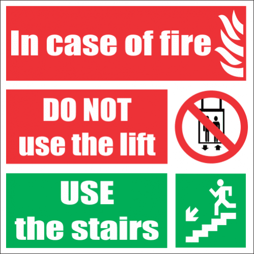 FR35 - In Case Of Fire Safety Sign