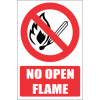 FR1E - No Open Flame Explanatory Safety Sign