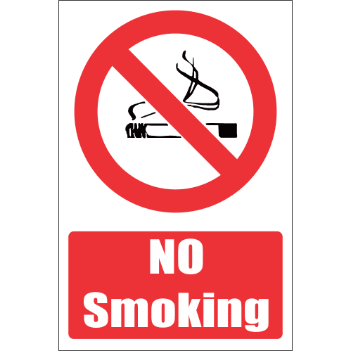 FR2E - No Smoking Explanatory Safety Sign
