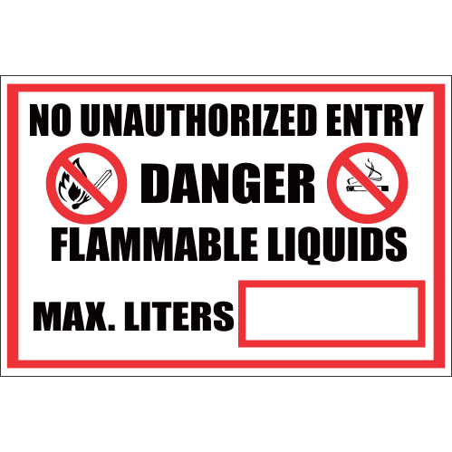 FR11 - No Unauthorized Entry Safety Sign