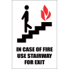 FR45 - Use Stairway Safety Sign
