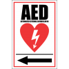 FA24 - AED Automated External Defibrillator Left Sign