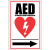 FA25 - AED Automated External Defibrillator Right Sign
