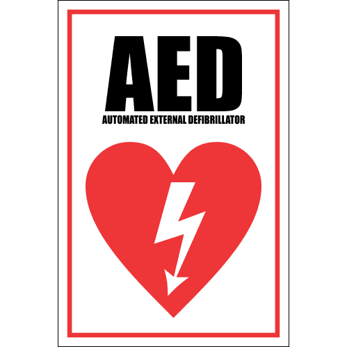 FA22 - AED Automated External Defibrillator Sign