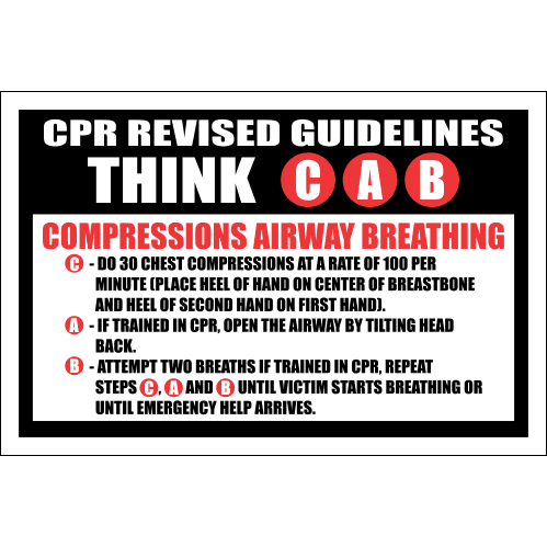 FA30 - CPR Revised Guidelines Sign