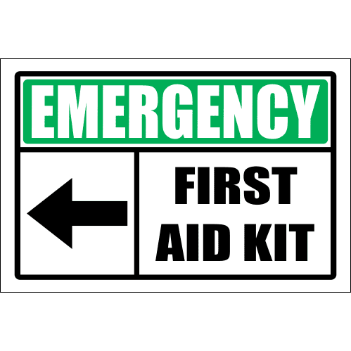 FA57 - Emergency First Aid Kit Left Sign