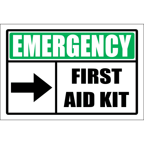 FA58 - Emergency First Aid Kit Right Sign