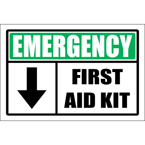 FA56 - Emergency First Aid Kit Sign