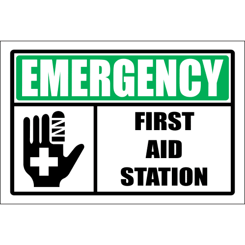FA39 - Emergency First Aid Station Sign