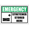 FA40 - Emergency Stretcher Stored Here Sign