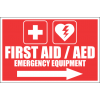 FA47 - First Aid And AED Emergency Equipment Right Sign