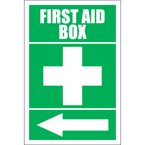 FA15 - First Aid Box Left Sign