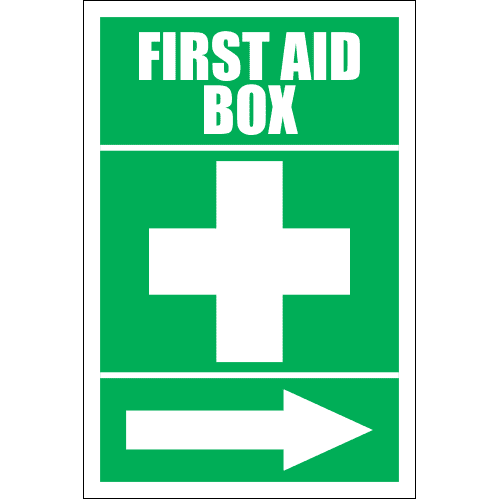 FA16 - First Aid Box Right Sign