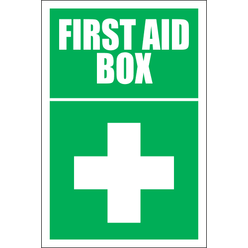 FA17 - First Aid Box Right Sign