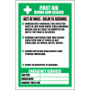 FA19 - First Aid Burns And Scalds Sign