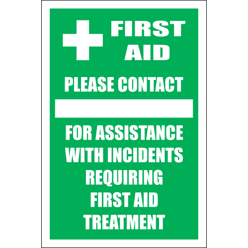 FA27 - First Aid Contact Sign
