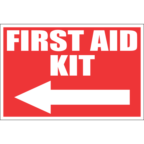 FA36 - First Aid Kit Left Sign
