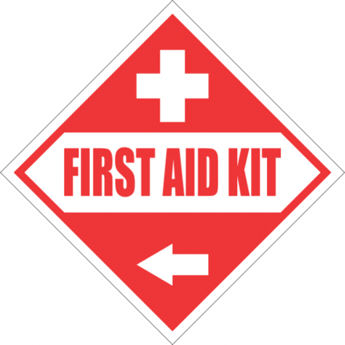 FA51 - First Aid Kit Left Sign