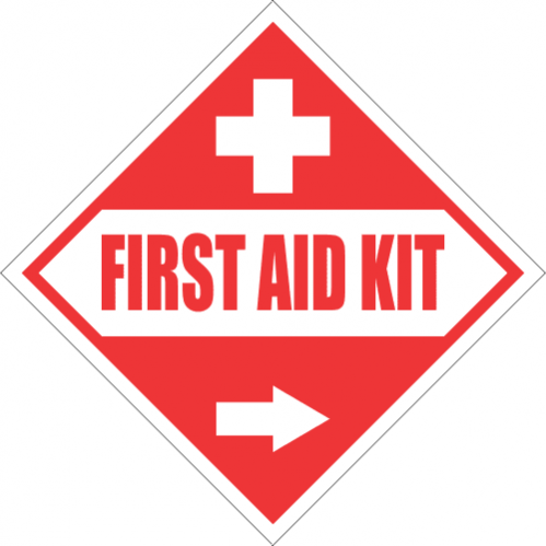 FA52 - First Aid Kit Right Sign