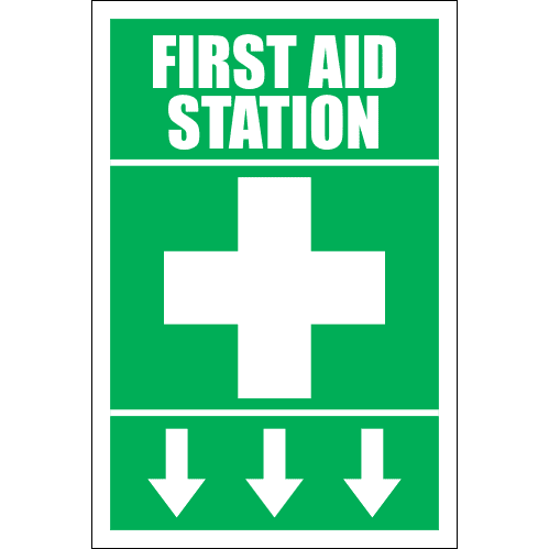 FA11 - First Aid Station Ahead Sign