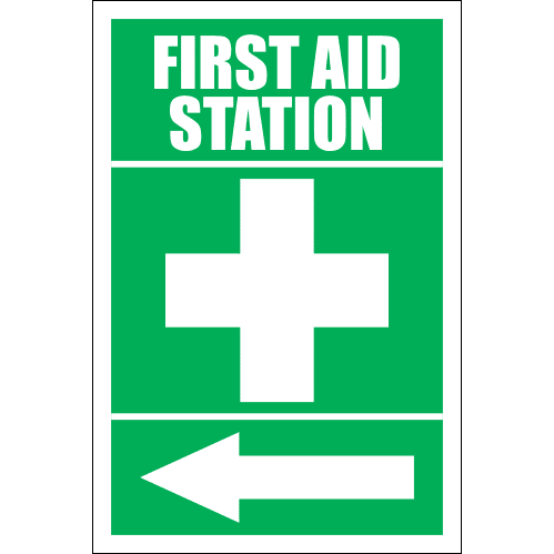 FA12 - First Aid Station Left Sign