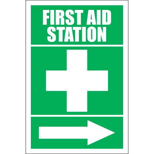 FA13 - First Aid Station Right Sign