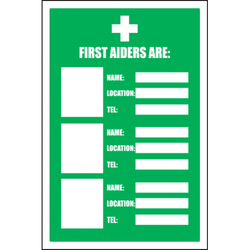 FA20 - First Aiders Sign
