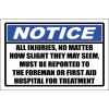 FA54 - Notice All Injuries Sign