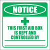 FA43 - Notice First Aid Box Sign