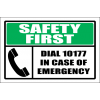 FA60 - Safety First Dial Number Sign