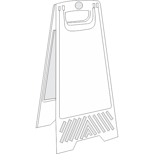 FS39 - Blank A-Frame Floor Stand - White
