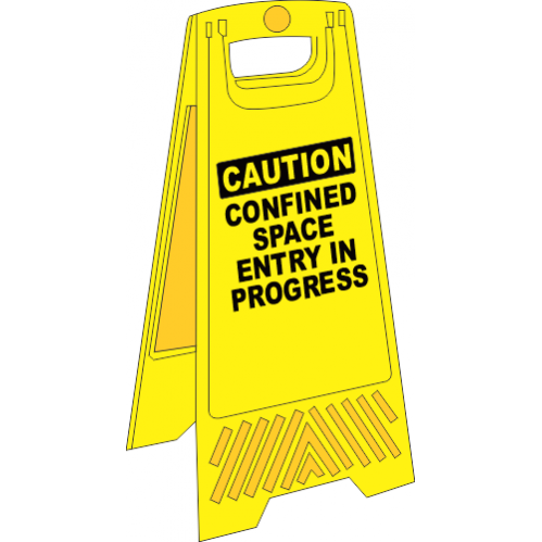 FS4 - Confined Space A-Frame Floor Stand - Yellow