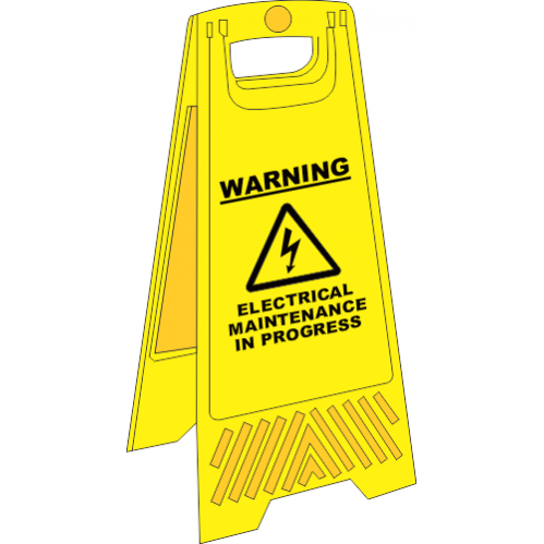 FS25 - Electrical Maintenance A-Frame Floor Stand - Yellow
