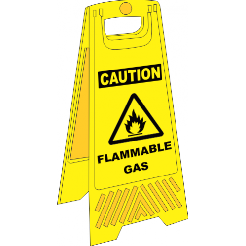 FS31 - Flammable Gas A-Frame Floor Stand - Yellow