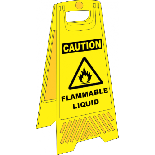 FS30 - Flammable Liquid A-Frame Floor Stand - Yellow