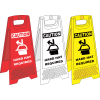 FS35 - Hard Hat Area A-Frame Floor Stand