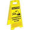 FS36 - Hazardous Chemicals In Use A-Frame Floor Stand