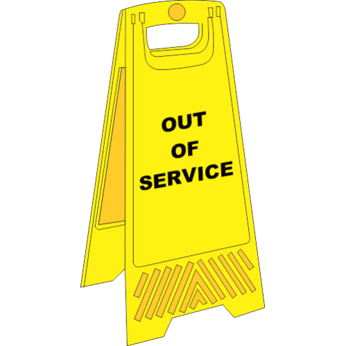FS19 - Out Of Service A-Frame Floor Stand - Yellow
