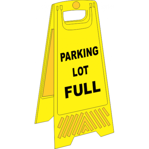 FS20 - Parking Lot Full A-Frame Floor Stand - Yellow