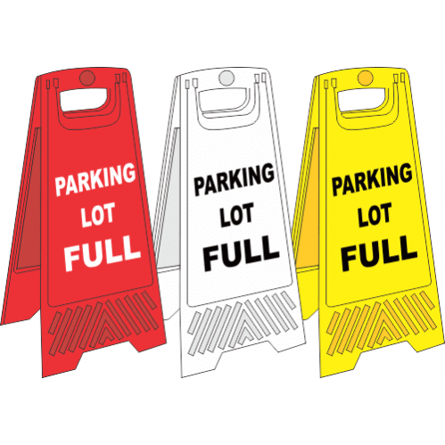 FS20 - Parking Lot Full A-Frame Floor Stand - Yellow, White and Red