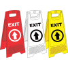 FS32 - Temporary Exit Ahead A-Frame Floor Stand