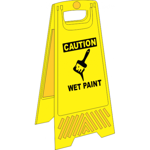 FS13 - Wet Paint A-Frame Floor Stand - Yellow