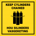 GAS14 - Keep Cylinders Chained Sign