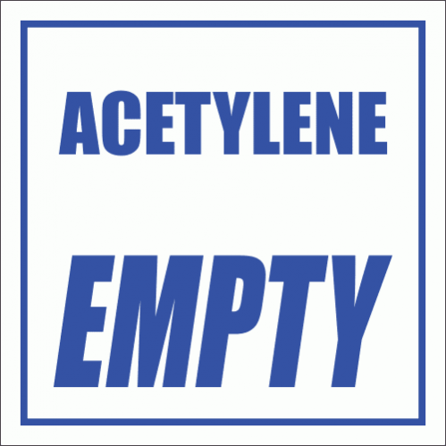 GAS2 - Acetylene Empty Sign